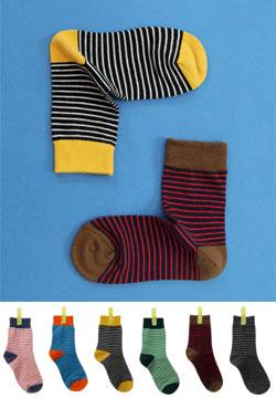 17861  - 条纹袜子脚踝