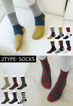 19504  -  2TYPE底纹颜色红袜