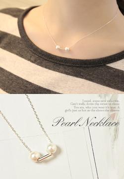 20789  - 珍珠银色项链