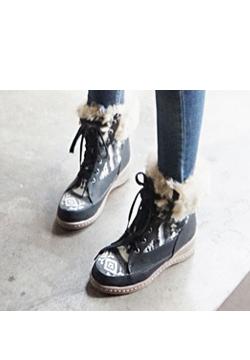 24107 - [限量版]北欧皮草靴
