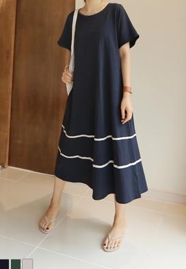 29314 - 线条长款衣衣裙