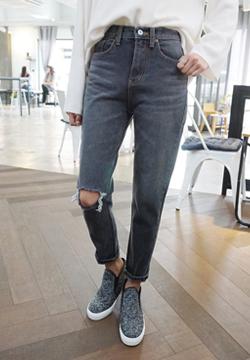 26321 - 【数量有限】灰哈伦裤牛仔裤量小左!